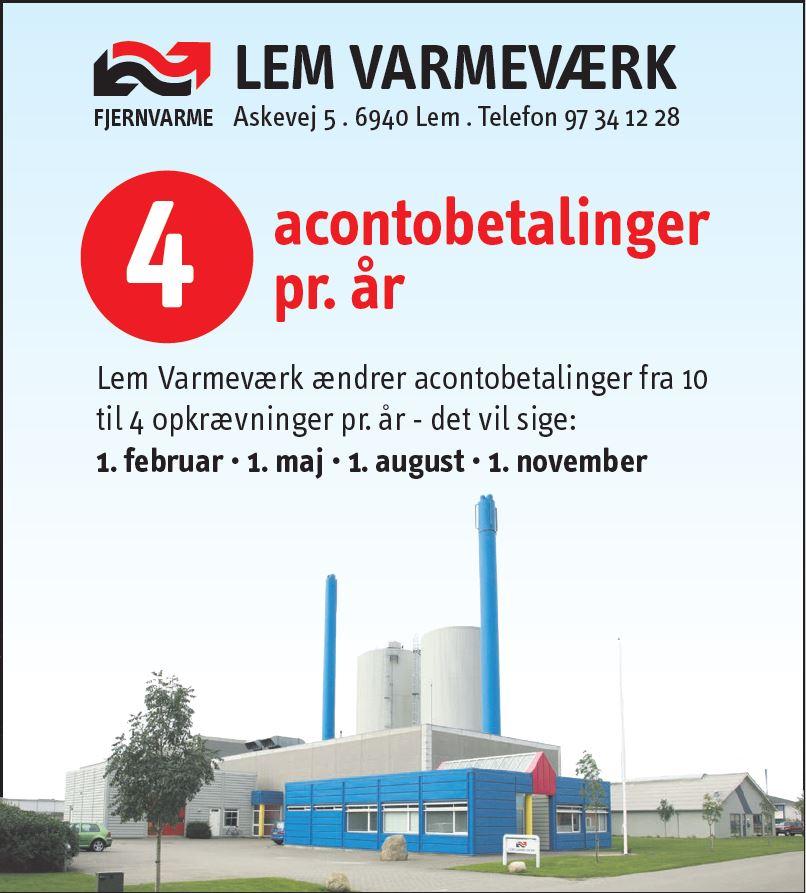 Information fra Lem Varmeværk