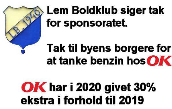 Lem Boldklub har modtage OK penge