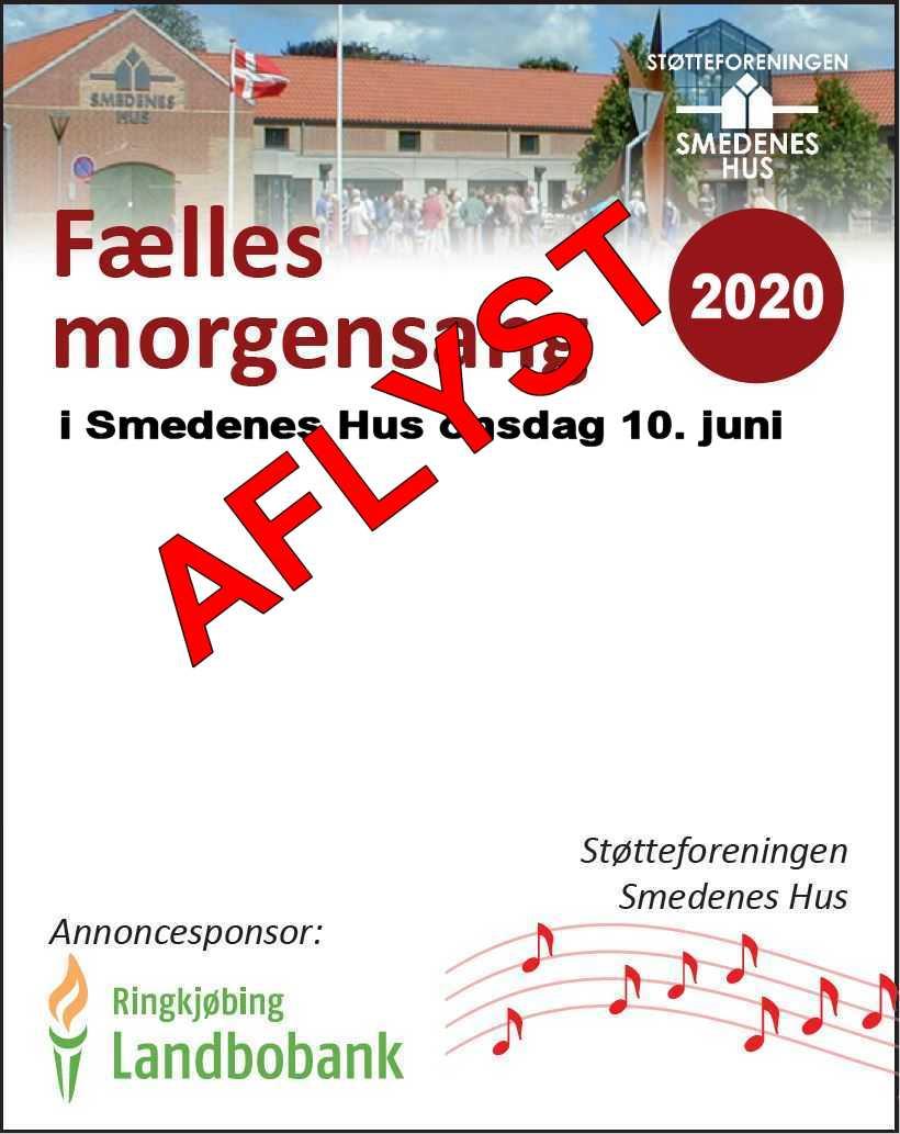 AFLYST - Morgensang den 10. juni kl. 9:30